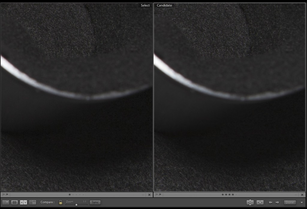 ISO 160 Shadow Noise Comparison
